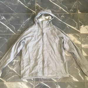 North face wind breaker size large gray